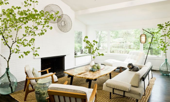 How to style the couch in the living area
